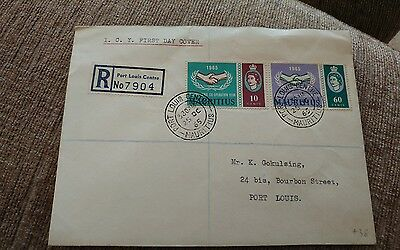 mauritius 1965 icy fdc