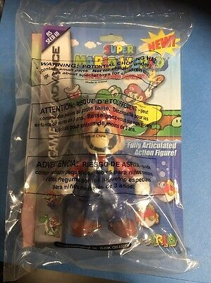 2002 Wendy's Nintendo Super Mario Action Figure Kids Meal Toy - Sealed