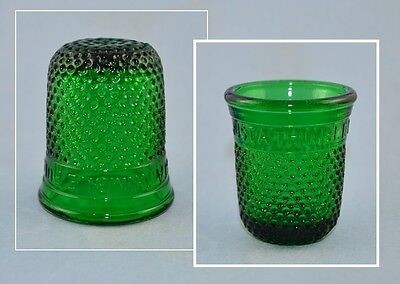 Green Glass Thimble Full - Just A Thimble Full