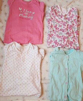 bundle of babygrows/sleepsuits girls 6-9 months
