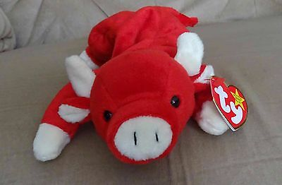 TY Beanie Baby - Retired - Snort the Bull - with both tags