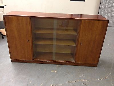 Mid Century B&S Goodman Glazed Bookcase Display Cabinet Vintage Cupboard
