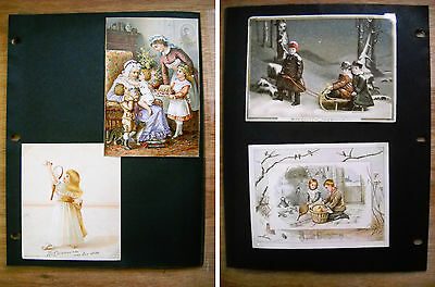 4 Antique Victorian Christmas New Year Cards Raphael Tuck (p.406)