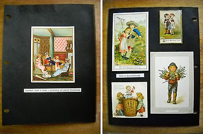 5 Antique Victorian Christmas New Year Cards Tuck Eyre & Spottiswoode (p.407)