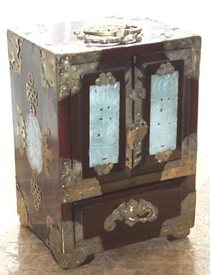 Vintage Chinese Jewellery Box In The Form Of A Miniature Chest Of Drawers