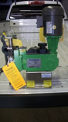 Pulsafeeder Diaphragm Metering Pump Model 25Hj With Motor, 0.98 Gph- New