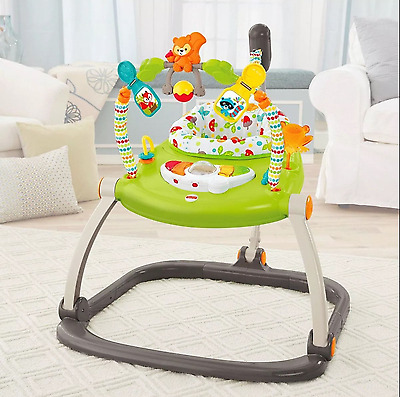 Fisher-Price Woodland Friends SpaceSaver Music Sounds Lights Adjustable Jumperoo