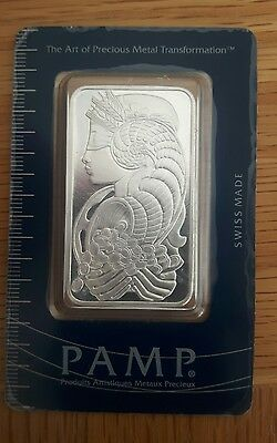 Pamp Suisse 50g .999 Silver Bullion Bar Lady Fortuna Veriscan design.100% Real