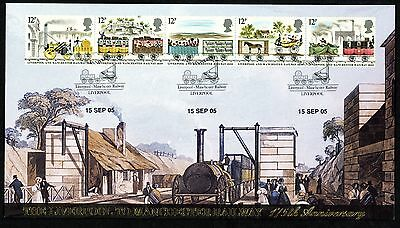FDC GB BUCKINGHAM COVERS L.T.D  No 10 1980 LIVERPOOL MANCHESTER RAILWAY
