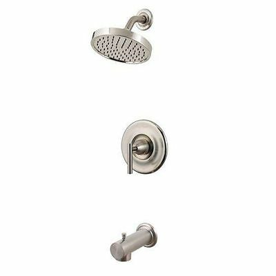 Pfister R89-8NK1 Contempra 1-Handle Tub and Shower Faucet Trim in Brushed Nickel