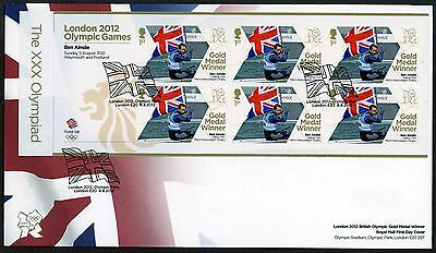 Fdc 2012 Ben Ainslie  Gold Medal First Day Cover London Olympic Games