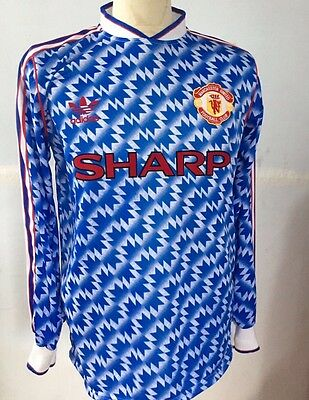Manchester United 1990-1992 Away Long Sleeve Shirt Retro/Vintage/Classic Large