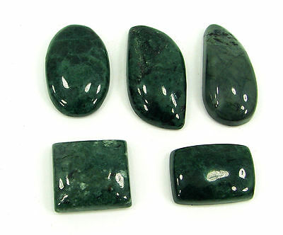 152.50 Ct Natural Green Jade Loose Gemstone Lot of 5 Pcs Cab Stone - 15972