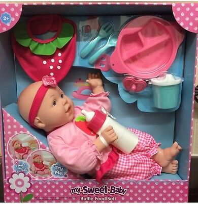 My Sweet Baby Doll Bottle Feeding Set Interactive Sounds
