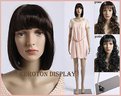 SF-7 Eurotondisplay Mannequin with 2 Wigs Free Movable