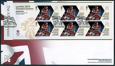 Fdc 2012 Jessica Ennis  Gold Medal First Day Cover London Olympic Games