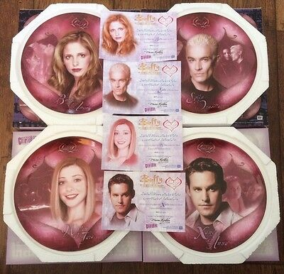 Buffy Complete Set Of Four Ltd Ed Lives And Loves Plates Never Been Displayed