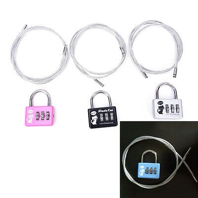 Cute 3-Digit Combination Travel Luggage Suitcase Padlock Lock Security B0