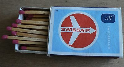 old filled matchbox  Airline Company   SWISSAIR    (7xx)