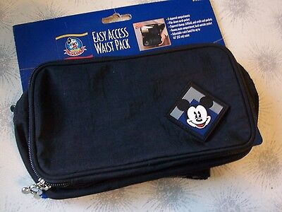 New~Disney Mickey Mouse Waist Fanny Pack~Easy Access Travel Organizer~Wallet