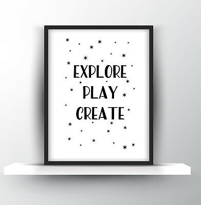 Inspirational Quote Poster Print Typography Decor gift wall decor Play Nursery
