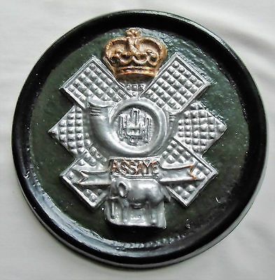 British Army Highland Light Infantry Badge Plaque/Wall Plate