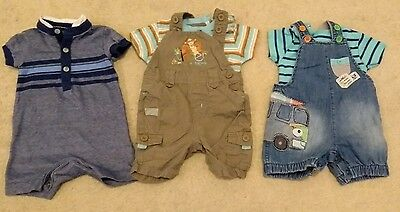 Boys 0-3 months dungaree bundle Next and M&S