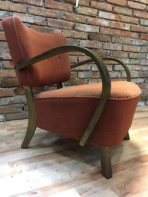 ONE PIECE. ART DECO ARMCHAIR / POLTRONE (1940- 1950 )By J.Halabala H-237