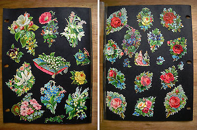 Antique Victorian Embossed Die Cuts Bouquets of Flowers, Couple (p.429)