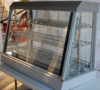 Anvil Fma7048 Commercial Heated & Humidified Hot Food Display Case - Glass