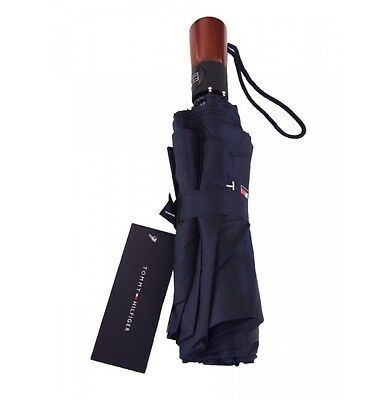 Tommy Hilfiger Small Umbrella Small Flag Light Weight Navy Blue Unisex Rrp £32.0