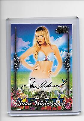 2016 Benchwarmer Collectors Club Sara Underwood April Card of the Month Auto