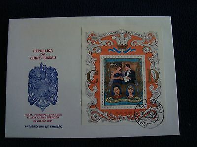 Guine-Bissau Royal Wedding 1981 First Day Cover