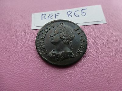 George 11 Farthing coin 1746 Fab Grade   Ref 865
