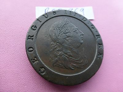 George 111 TwoPence Cartwheel coin 1797 good grade   Ref 869