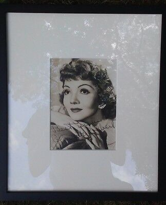ORIGINAL VINTAGE 1930'S CLAUDETTE COLBERT Photo Picture Signed and Framed!!!