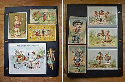 9 Antique Victorian French Trade Cards Military Theme Children  (p 357)