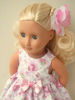 Pretty doll floral dress flower 18 dolls clothes handmade to fit Our Generation
