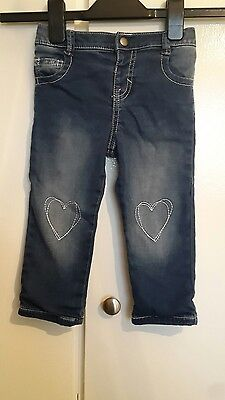 girls denim jeans. size 9-12months. fred and florence
