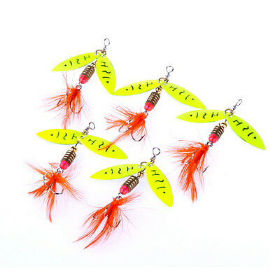 Spinner Fishing Lure Metal Spoon Lures hard bait fishing tackle Atificial 4.5gB0