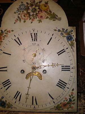 Antique-American-Grandfather 8 Day-Clock Movement-Ca.1800-To Restore-#N690