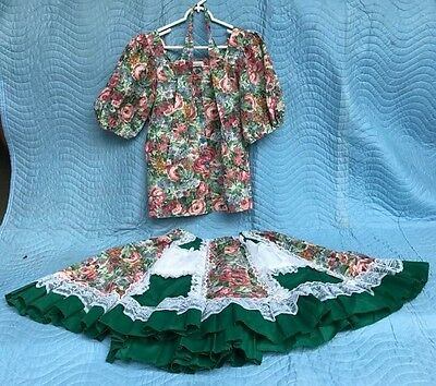 PitchFork Brand Women's Square Dance Outfit Size Medium