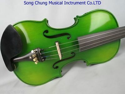 1pcs Hand-made solid wood Green colors electric & acoustic viola 16""