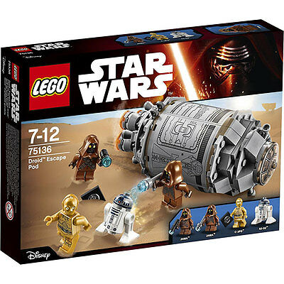 Lego Star Wars 75136 Droid Escape Pod Brand New And Sealed Box 100% Complete