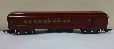 American Flyer 653 Pullman Combine Red