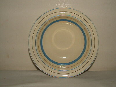 Clarice Cliff Art Deco Blue & Gold Dessert  Bowl  Stunning