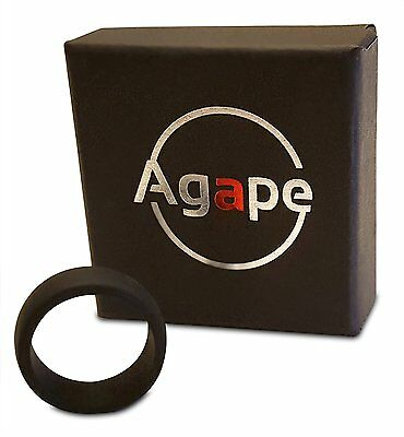 Premium Quality Agape Silicone Wedding Ring Ultra Comfortable Choice Color Size