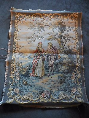 Sweetheart Vintage French Style Tapestry Pillow or chair Insert
