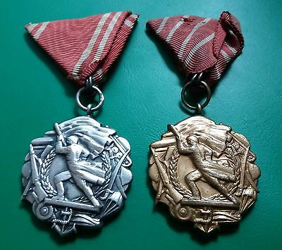 Yugoslavia Medals For Military Merit First Type Ii And Iii Class Rrrrr