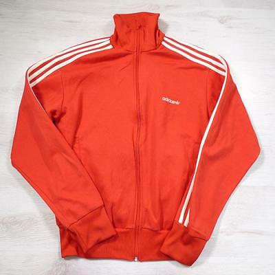 ADIDAS Vintage 1990's Red Retro Polyester Tracksuit Top Jacket Large #E2158